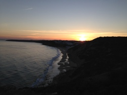 Sunset over the cliffs