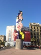 Barcelona's Face Statue