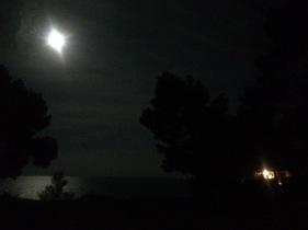 Van and moon