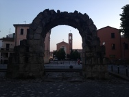 Old city walls and arch