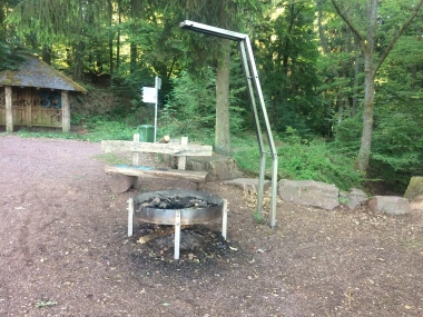 Cool fire pit we came across in the woodland!